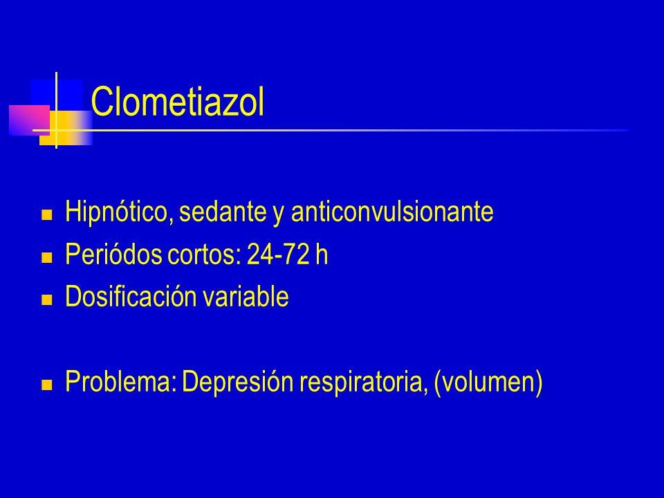 Clometiazol Hipnótico, sedante y anticonvulsionante