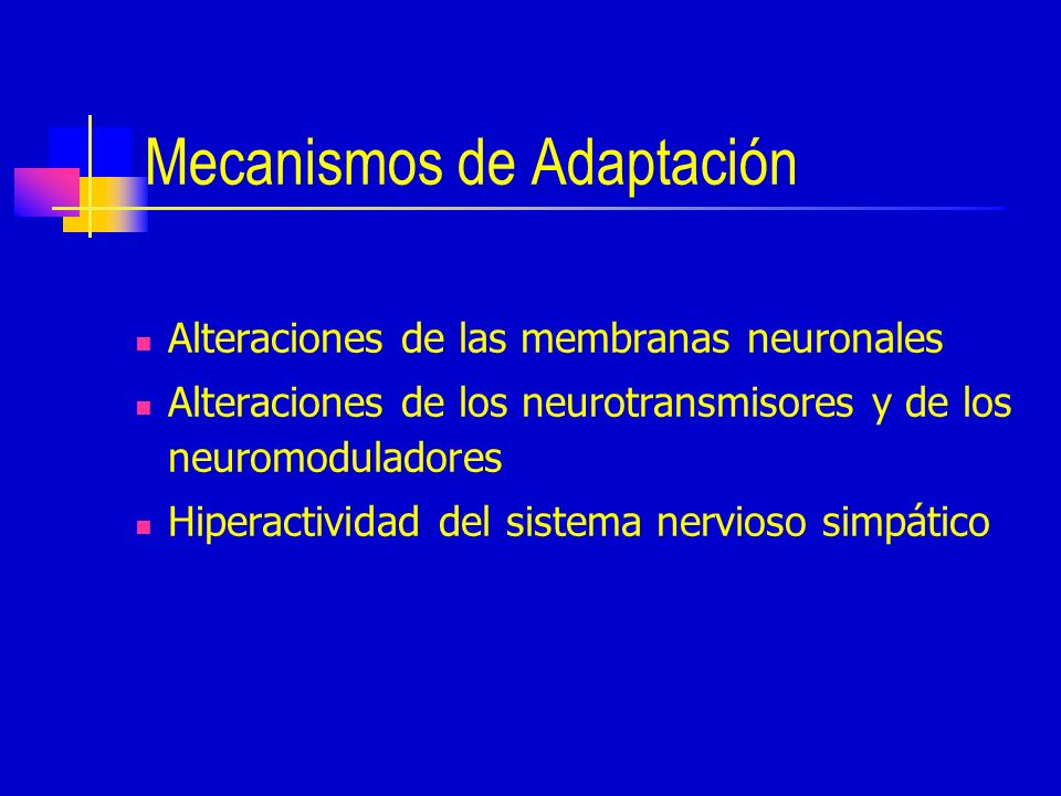 Mecanismos de Adaptación