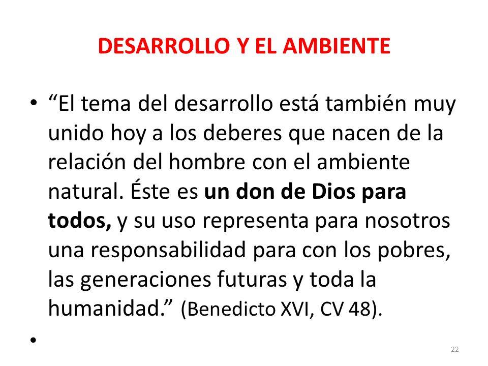 DESARROLLO Y EL AMBIENTE