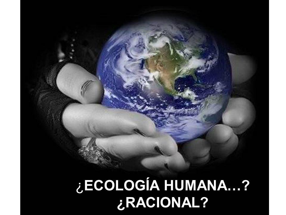 ¿ECOLOGÍA HUMANA… ¿RACIONAL