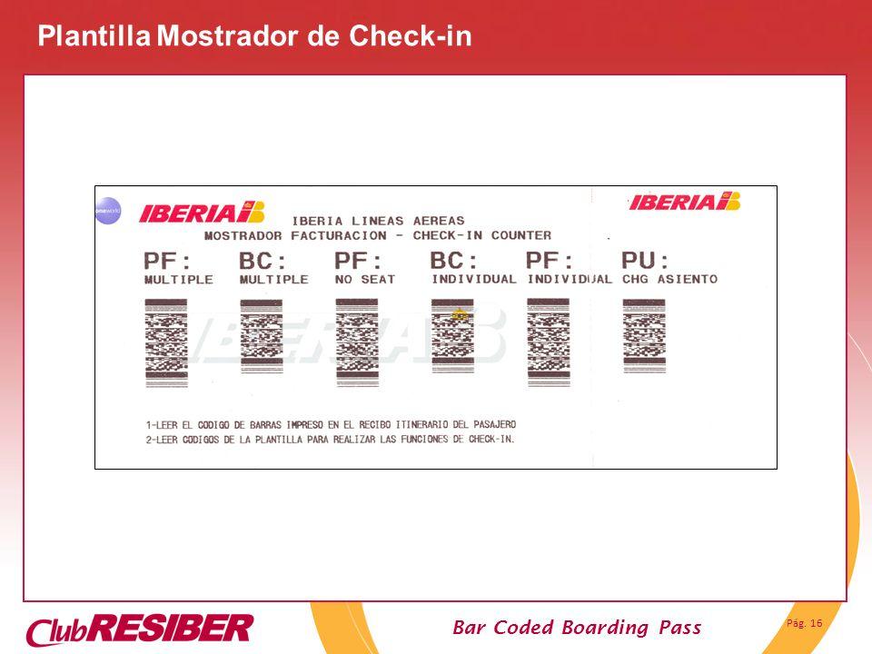 Plantilla Mostrador de Check-in