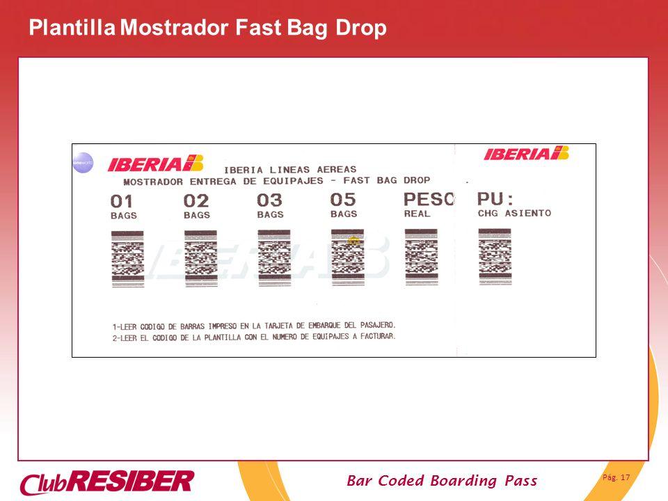 Plantilla Mostrador Fast Bag Drop