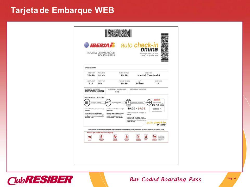 Tarjeta de Embarque WEB