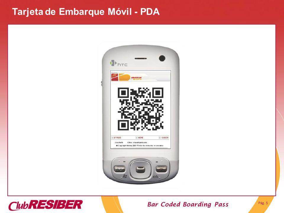 Tarjeta de Embarque Móvil - PDA