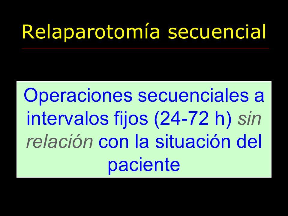 Relaparotomía secuencial