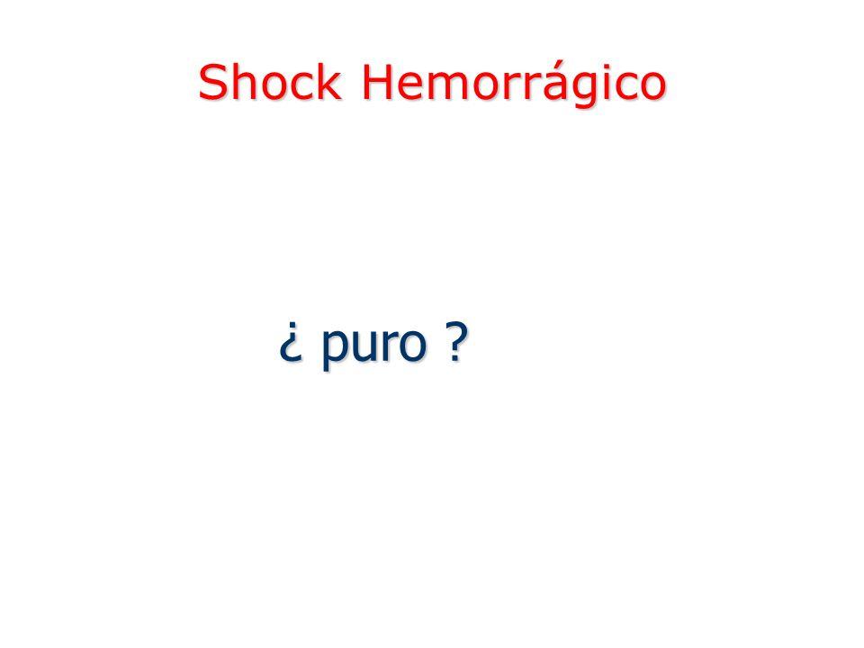 Shock Hemorrágico ¿ puro