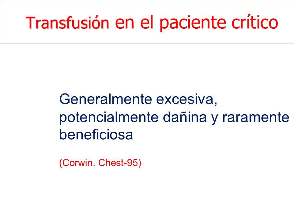 Transfusión en el paciente crítico