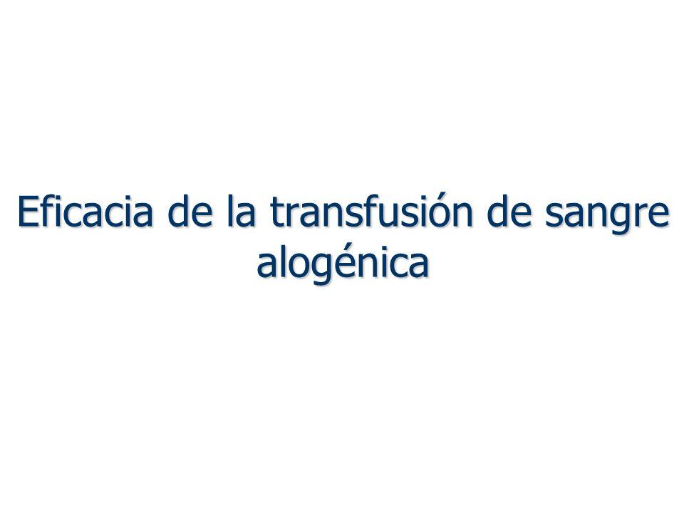 Eficacia de la transfusión de sangre alogénica