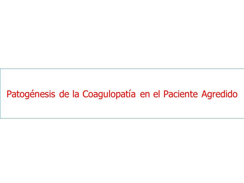 Patogénesis de la Coagulopatía en el Paciente Agredido