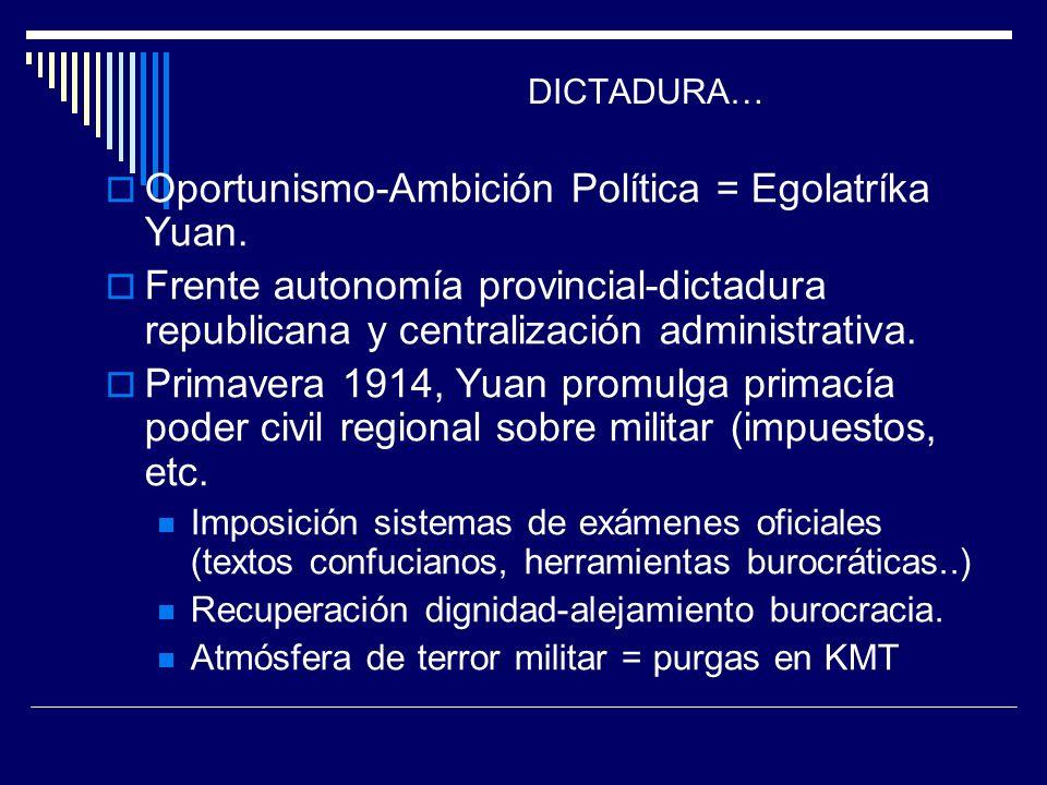 Oportunismo-Ambición Política = Egolatríka Yuan.