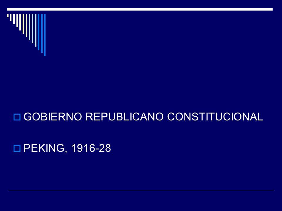 GOBIERNO REPUBLICANO CONSTITUCIONAL