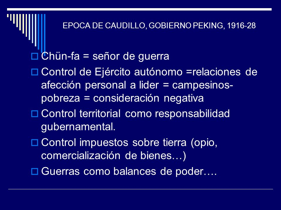EPOCA DE CAUDILLO, GOBIERNO PEKING, 1916-28