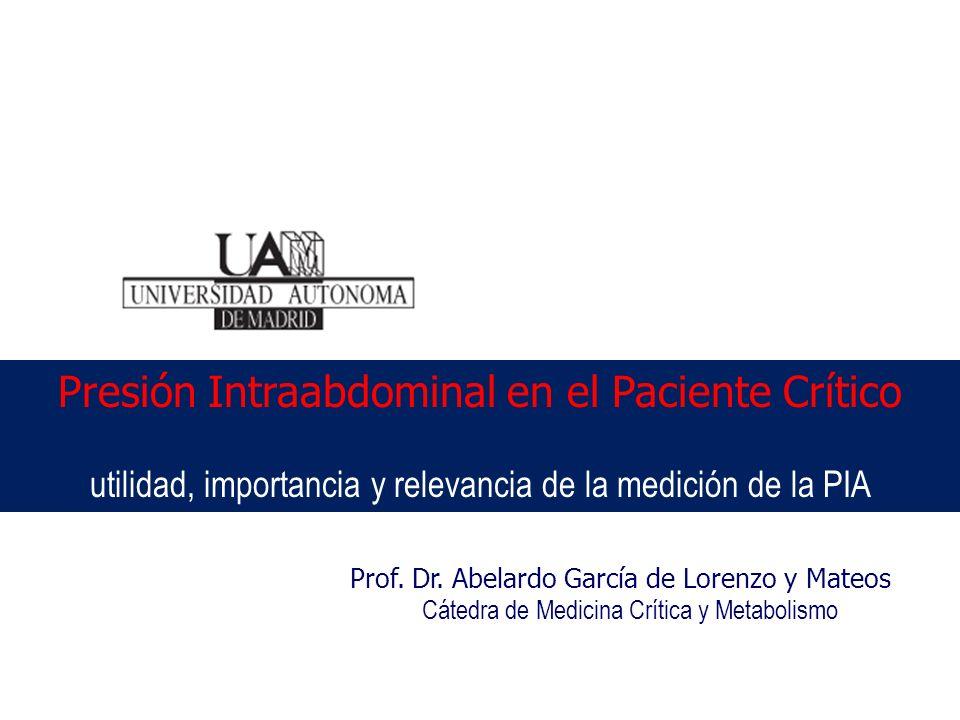 Presión Intraabdominal en el Paciente Crítico