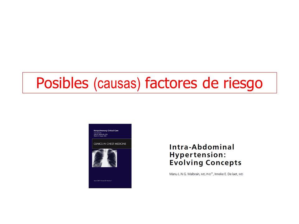 Posibles (causas) factores de riesgo