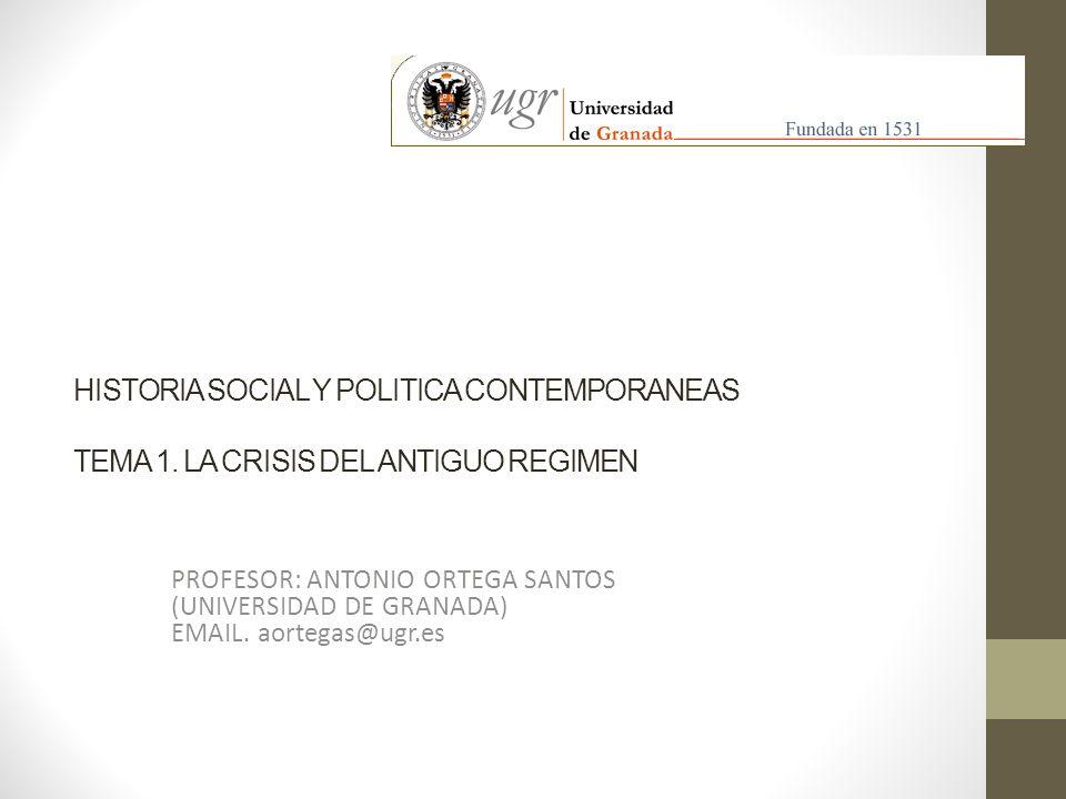 HISTORIA SOCIAL Y POLITICA CONTEMPORANEAS TEMA 1