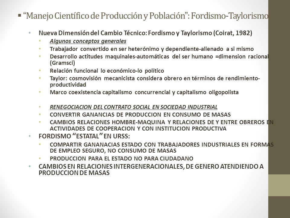 Manejo Científico de Producción y Población : Fordismo-Taylorismo