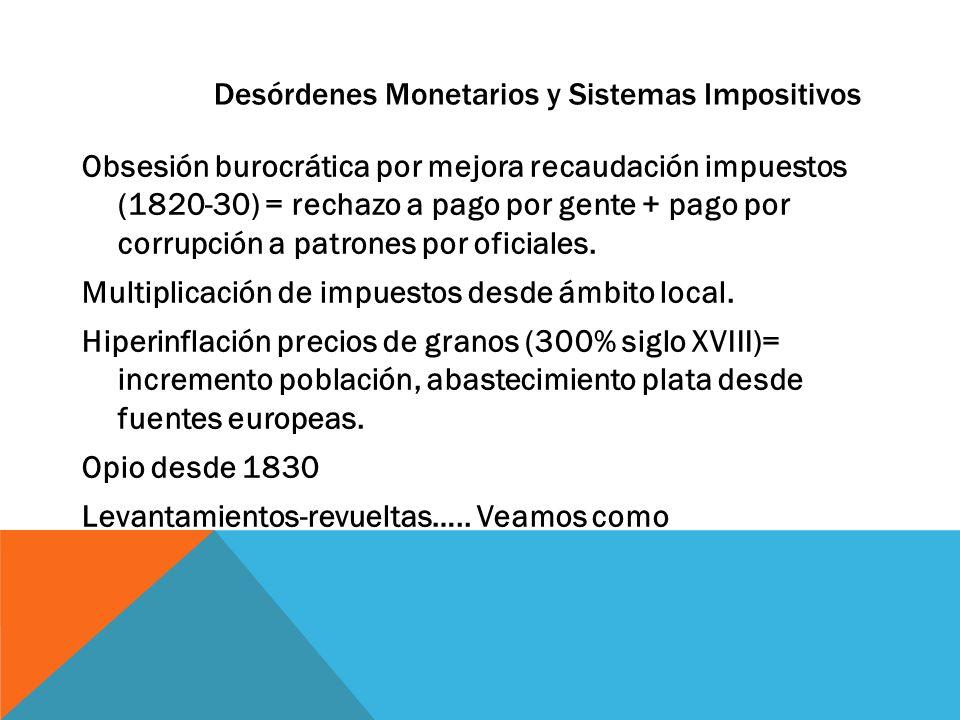 Desórdenes Monetarios y Sistemas Impositivos