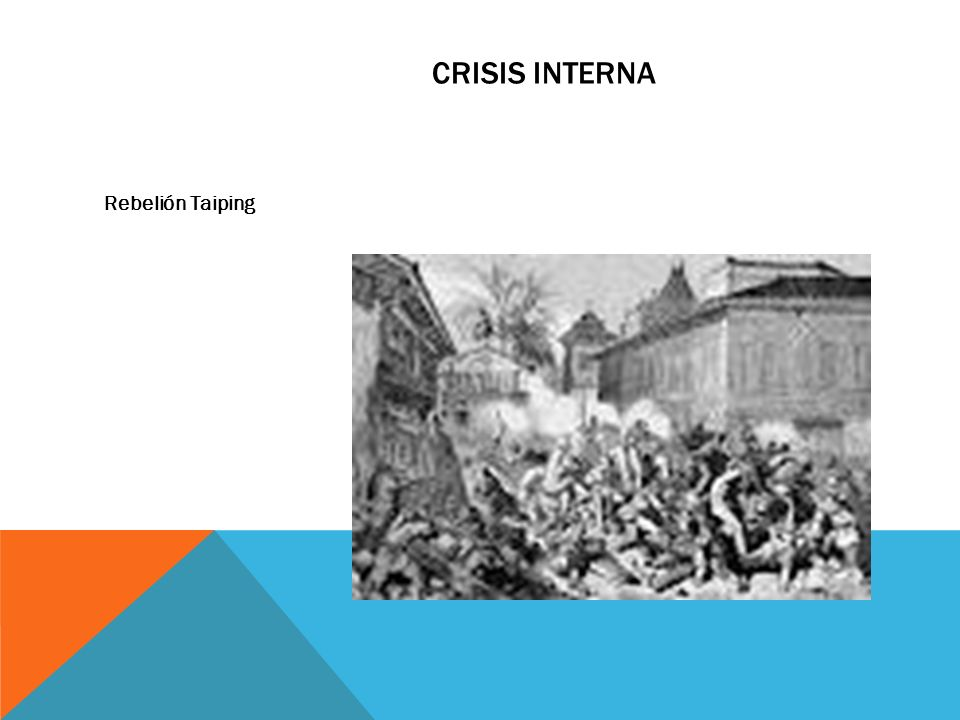 CRISIS INTERNA Rebelión Taiping