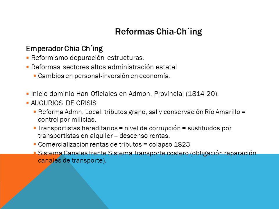 Reformas Chia-Ch´ing Emperador Chia-Ch´ing