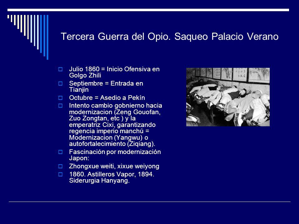 Tercera Guerra del Opio. Saqueo Palacio Verano