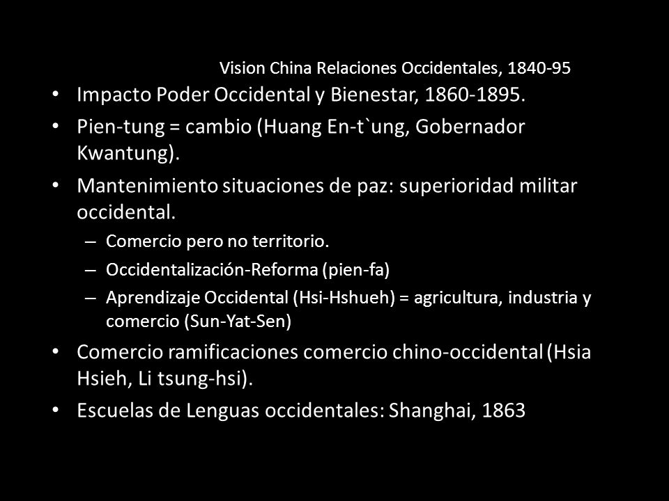 Vision China Relaciones Occidentales, 1840-95