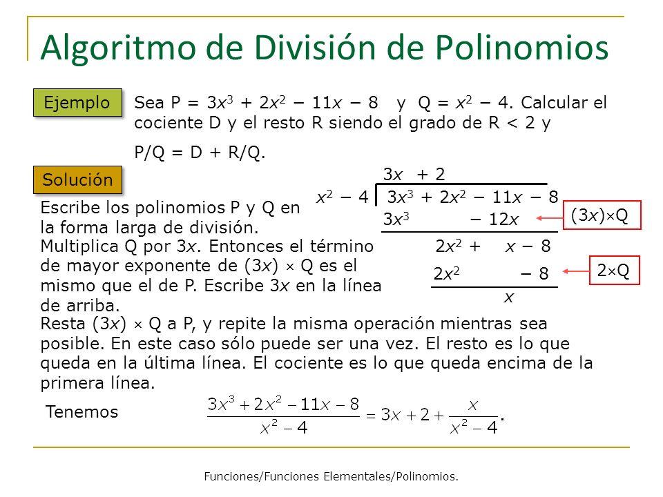 Algoritmo de División de Polinomios