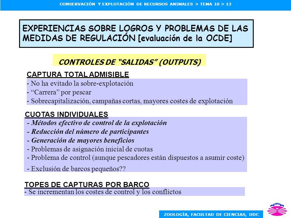 CONTROLES DE SALIDAS (OUTPUTS)