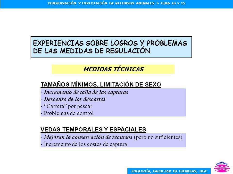 EXPERIENCIAS SOBRE LOGROS Y PROBLEMAS DE LAS MEDIDAS DE REGULACIÓN