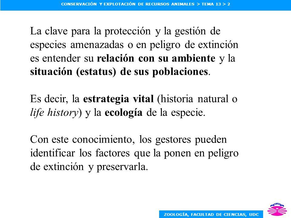 La clave para la protección y la gestión de especies amenazadas o en peligro de extinción es entender su relación con su ambiente y la situación (estatus) de sus poblaciones.