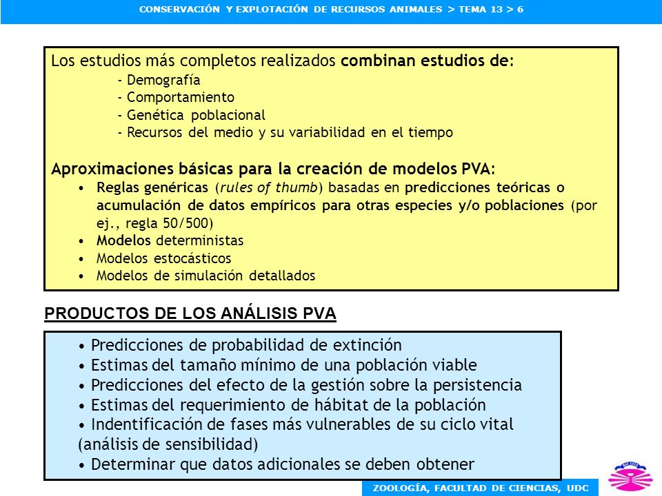 PRODUCTOS DE LOS ANÁLISIS PVA