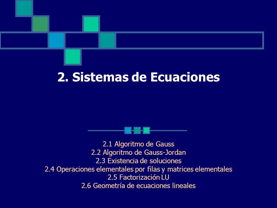 2. Sistemas de Ecuaciones