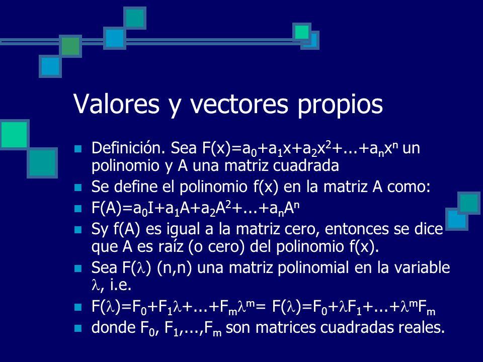 Valores y vectores propios