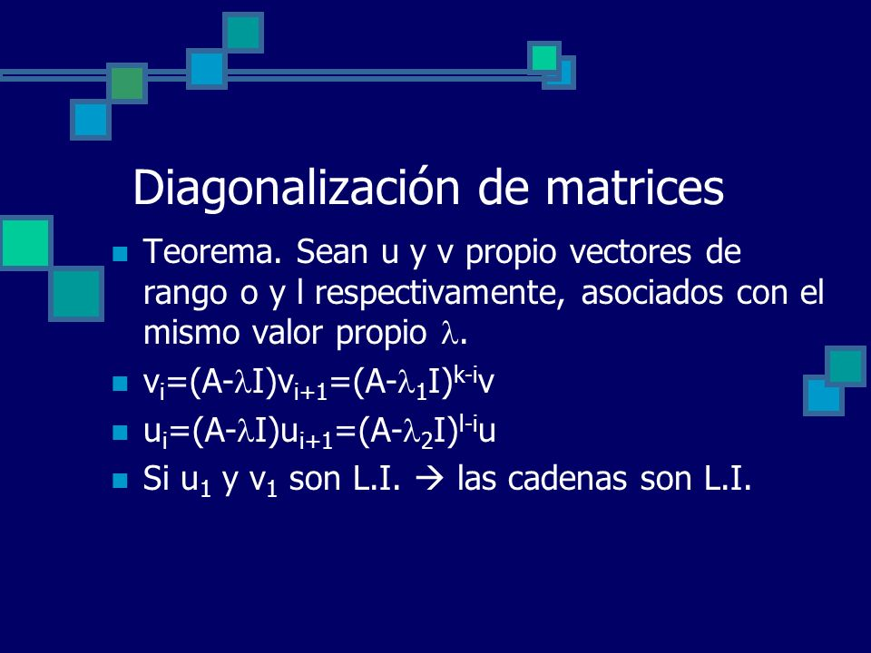 Diagonalización de matrices