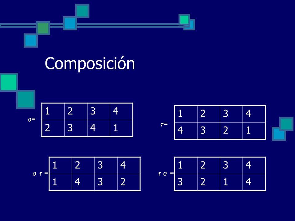 Composición 1 2 3 4 1 2 3 4 = = 1 2 3 4 1 2 3 4   =   =
