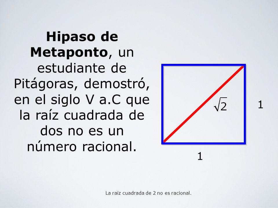 La raíz cuadrada de 2 no es racional.
