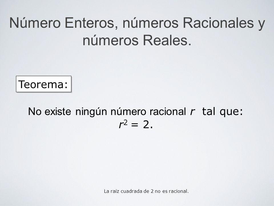 Número Enteros, números Racionales y números Reales.