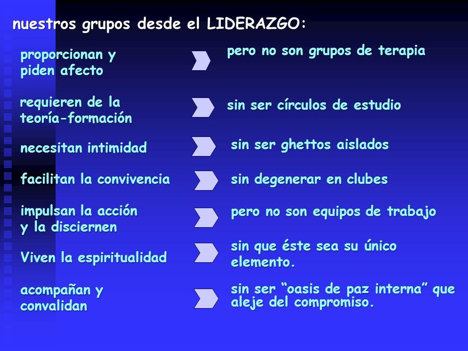 nuestros grupos desde el LIDERAZGO: