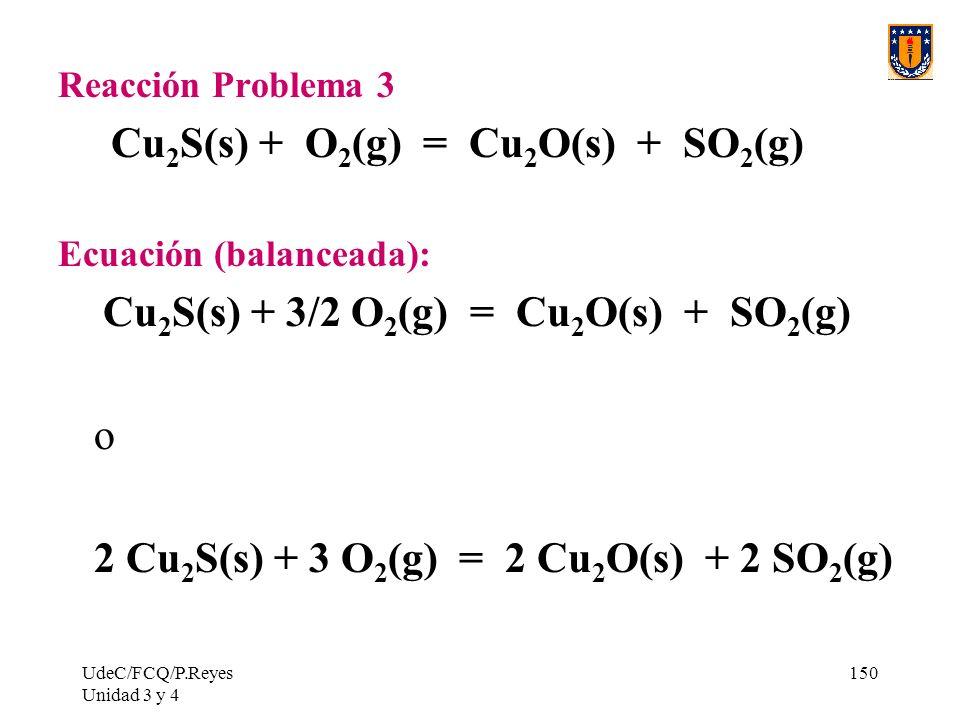 Cu2S(s) + O2(g) = Cu2O(s) + SO2(g)