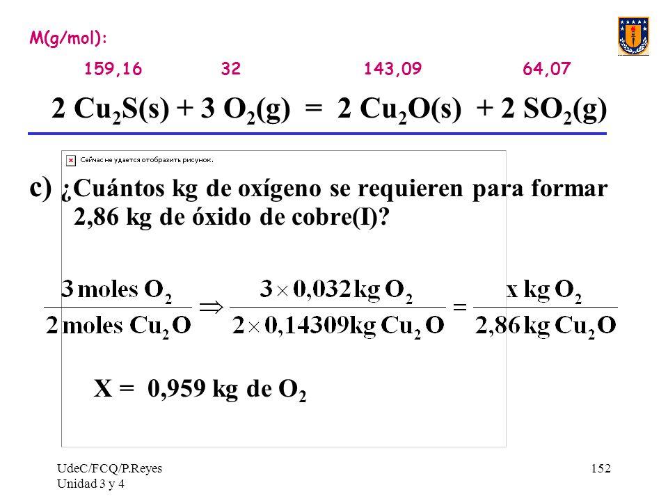 2 Cu2S(s) + 3 O2(g) = 2 Cu2O(s) + 2 SO2(g)