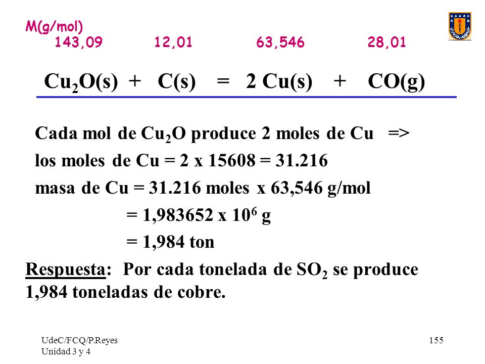 Cu2O(s) + C(s) = 2 Cu(s) + CO(g)