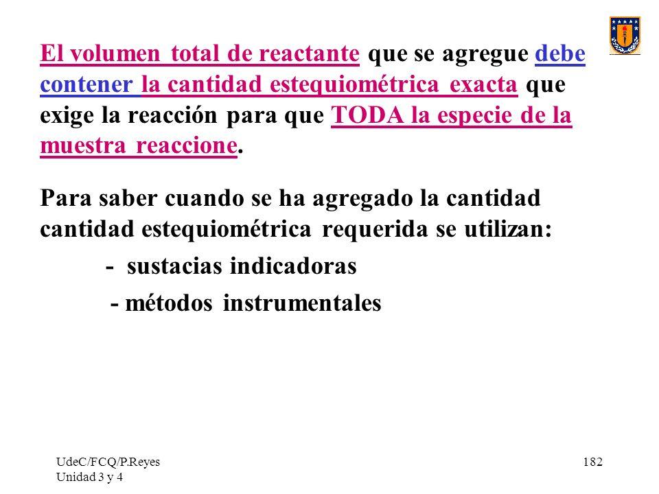 - sustacias indicadoras - métodos instrumentales