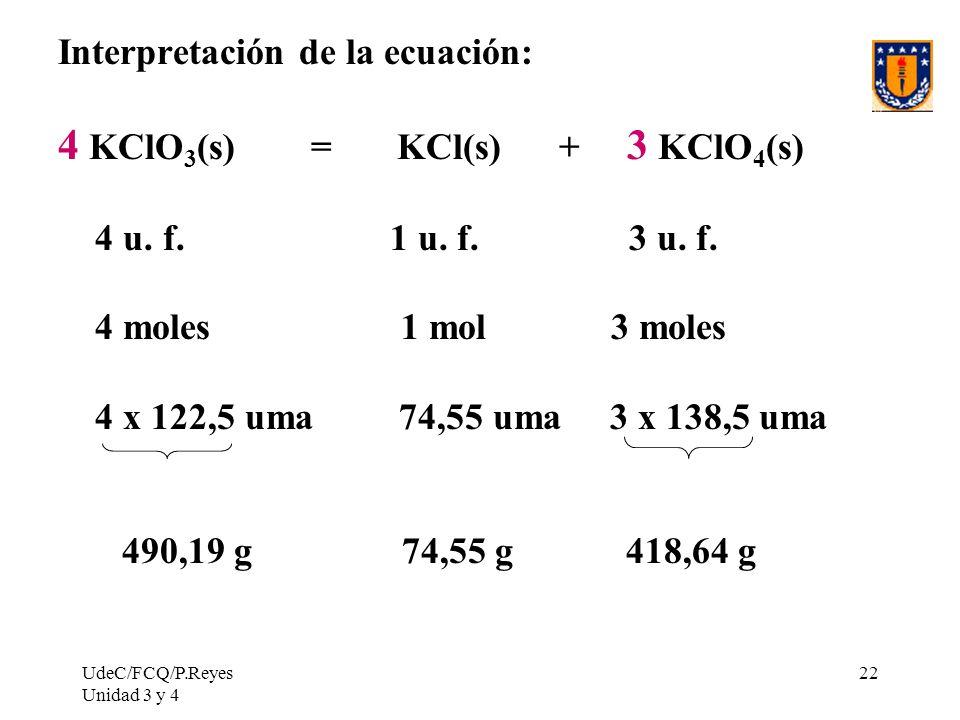 4 KClO3(s) = KCl(s) + 3 KClO4(s)