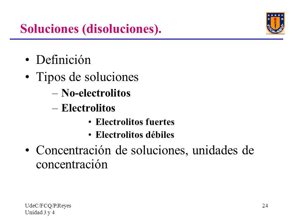 Soluciones (disoluciones).