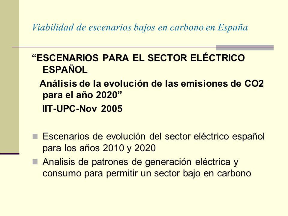 Viabilidad de escenarios bajos en carbono en España