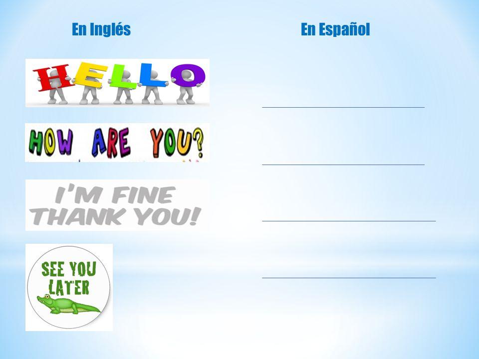 En Inglés En Español
