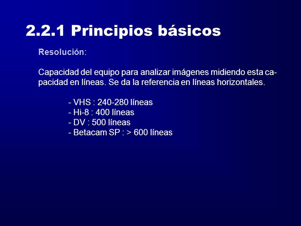 2.2.1 Principios básicos Resolución: