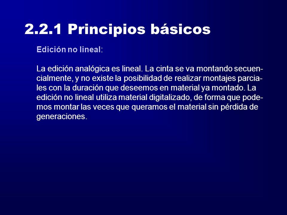 2.2.1 Principios básicos Edición no lineal: