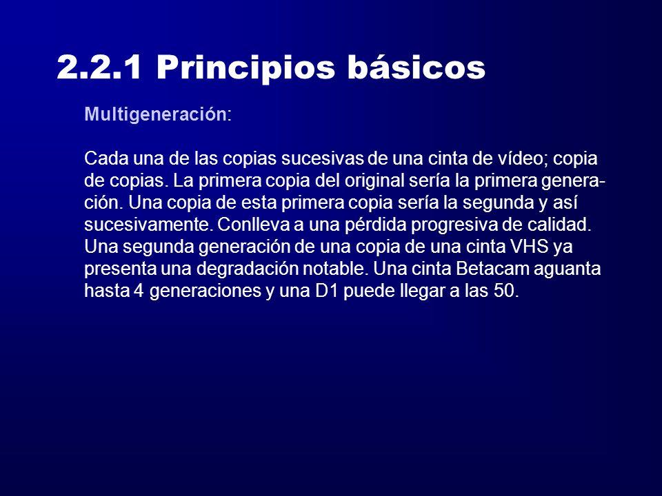 2.2.1 Principios básicos Multigeneración: