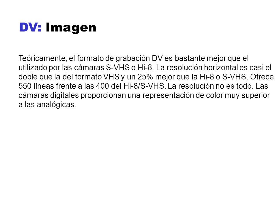 DV: Imagen