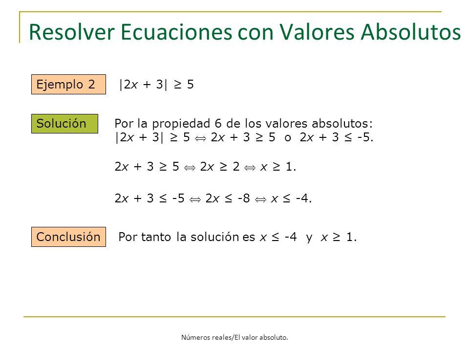 Resolver Ecuaciones con Valores Absolutos